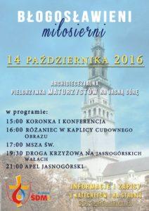 plakat-pielgrzymka-maturzystow-2016